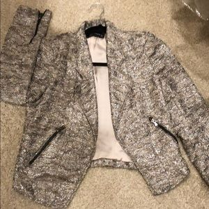 Zara Women crop metallic jacket